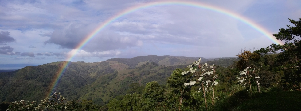 Rainbow at Rancho Silencio near San Ramon Costa Rica where lots are still for sale