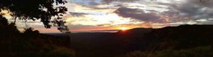 Panoramic view of Gulf from Central Valley Costa Rica