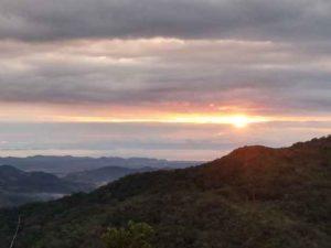 sunset view from RanchoSilencio Central Valley Costa Rica