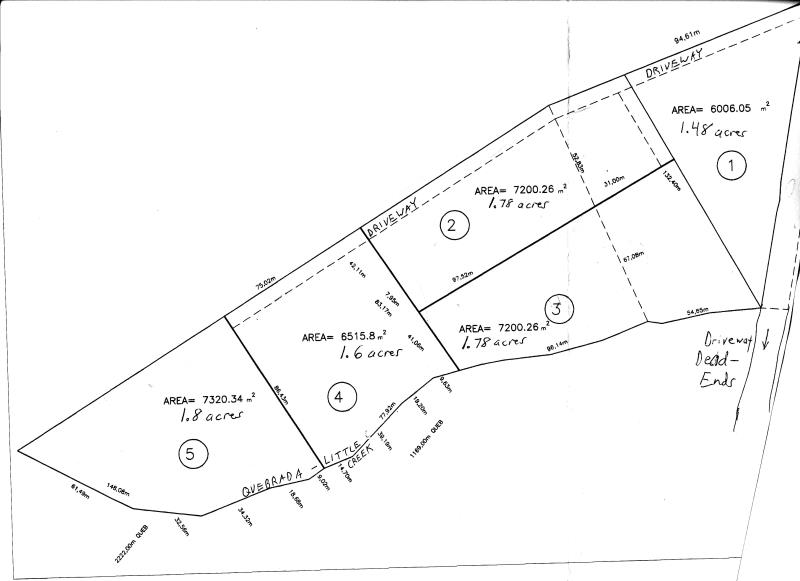 map of lots for sale San Ramon Costa Rica