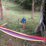 Area for sitting under the Banyan Tree at Rancho Silencio near San Ramon Costa Rica
