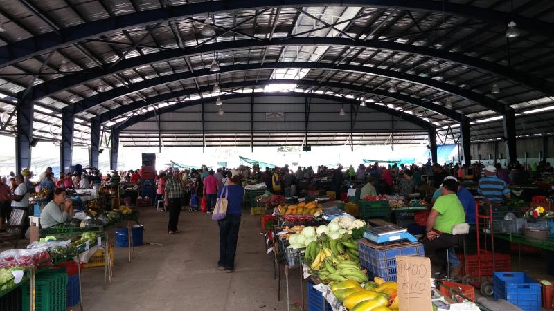 San Ramon Costa Rica fresh vegetable and fruit market