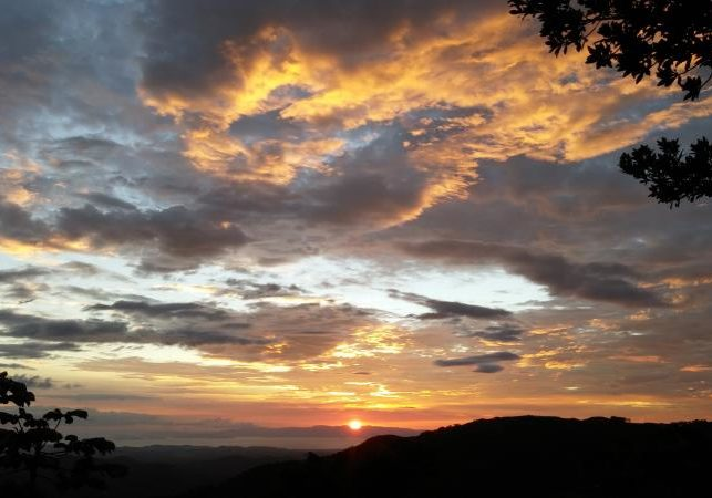 sunset from house west of San Ramon Costa Rica